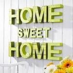 home sweet home groene letters